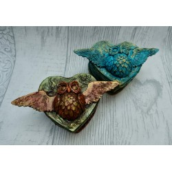 Magical Owl Trinket Box -...