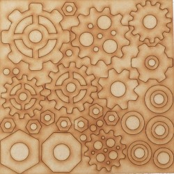 MDF Cogs, Nuts and Washers