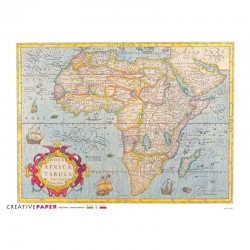 Antique Map Africa Rice Paper