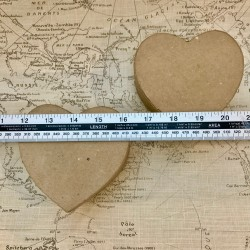 Pair of Heart Shaped Papier...
