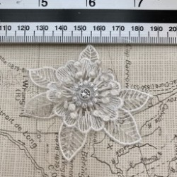 Lace Fabric Flower with...