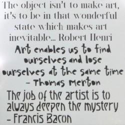 15 x 15cm Arty Quotes Stencil