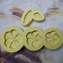 Pansies and leaves mould set