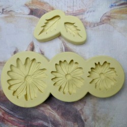 Daisies and leaves mould set