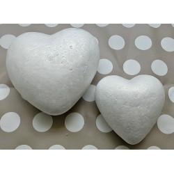 1 x 8cm Polystyrene heart