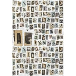 Uppercase letters  rice paper