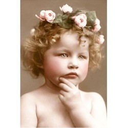 Victorian child with flower...