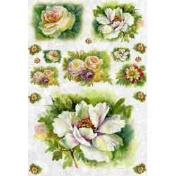 Floral rice paper