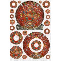 Aztec circles  rice paper