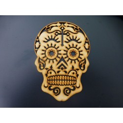 MDF Sugar Skull with Cross...
