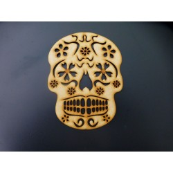 MDF Sugar Skull with Flower...