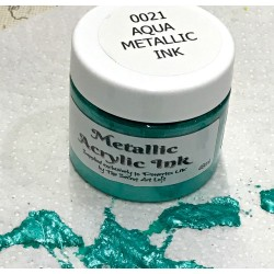 Metallic Acrylic Ink Aqua