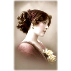 Victorian woman rice paper