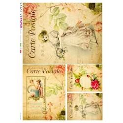 Rice Paper Victorian Postcard