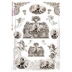 Rice paper cherub designs