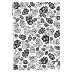 Sugar skull design Rice Paper