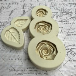 Roses and leaves mould set